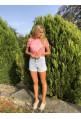 Short ALAIA en jeans taille haute