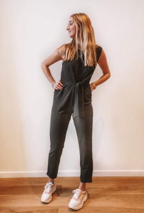 Combinaison pantalon ALBANE noire sans manches