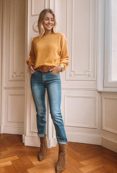 Jeans slim PAT bleu