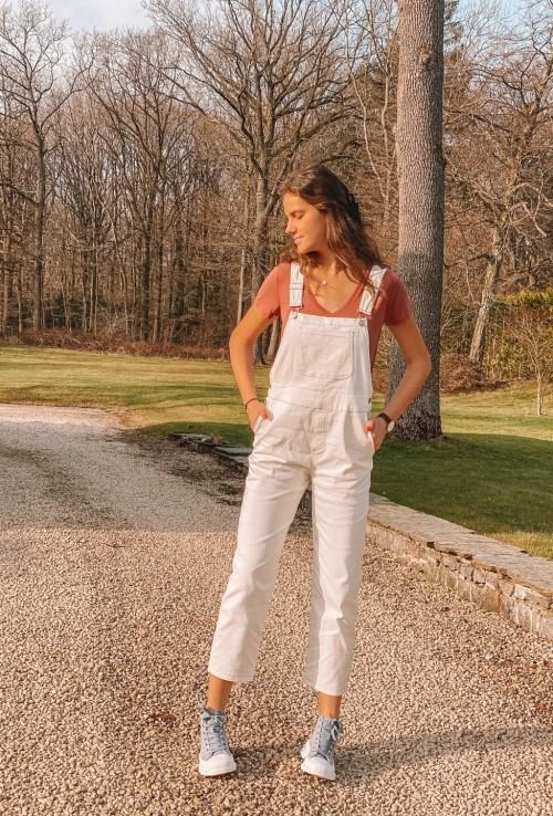 Salopette MAX en jeans blanc