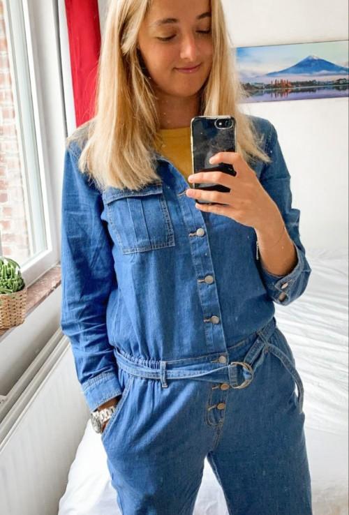 Blue jeans jumpsuit LUCY