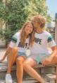 T-shirt HOPE blanc unisexe