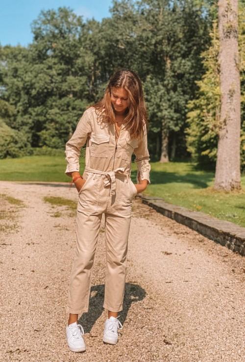 Combinaison pantalon GWEN BEIGE