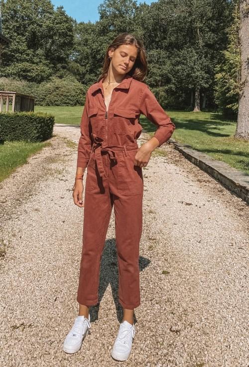 Combinaison pantalon GWEN BORDEAUX