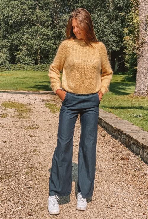 Flare jeans MARLON MARINE in dark blue