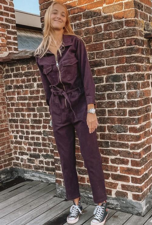 Combinaison pantalon GWEN VIOLET